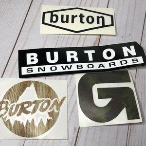 4- Burton snowboard throwback sticker pack new